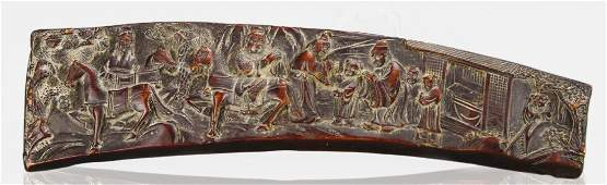 Chinese Carved Horn Plaque