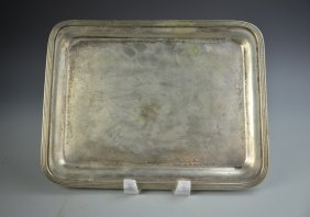 Nickel And Silver Tray