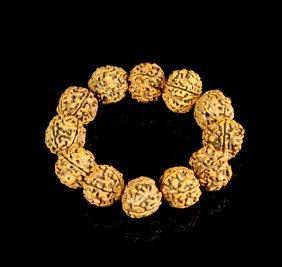 Chinese Walnut Seeds Beaded Bracelet