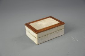 Italian Felt And Wood Jewelry Box