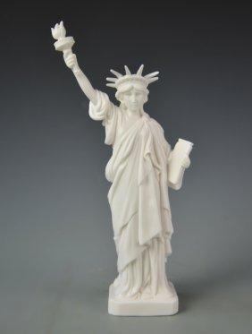 Chinese Blanc De Chine Statue Of Liberty
