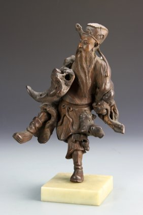 Chinese Carved Figure Of An Immortal
