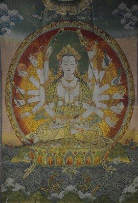 Tibetan Textile Thangka