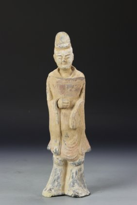 Chinese Antique Pottery Man Figure