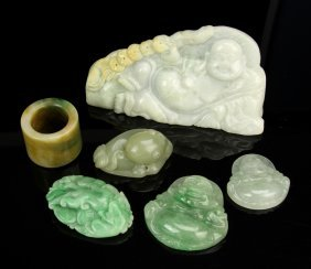Six Pieces Of Chinese Jade