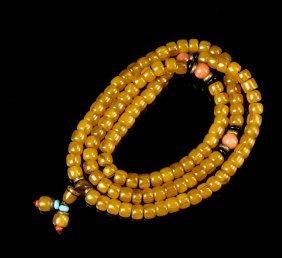 Chinese Amber Prayer Beads