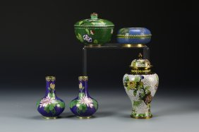 Five Chinese Cloisonne Pieces