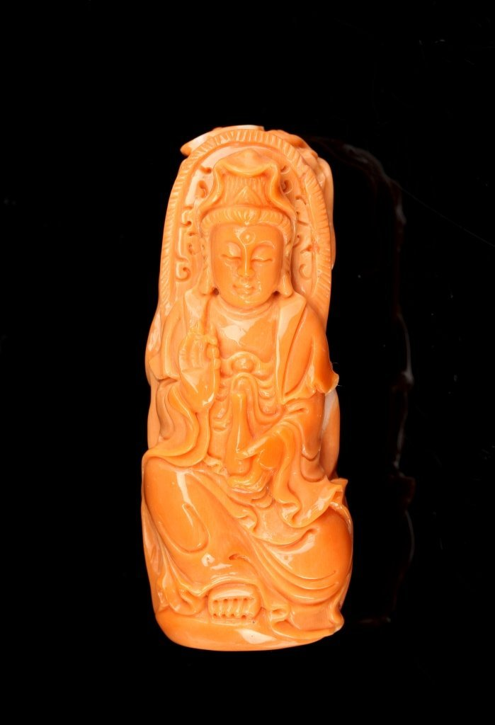 Chinese Coral Pendant