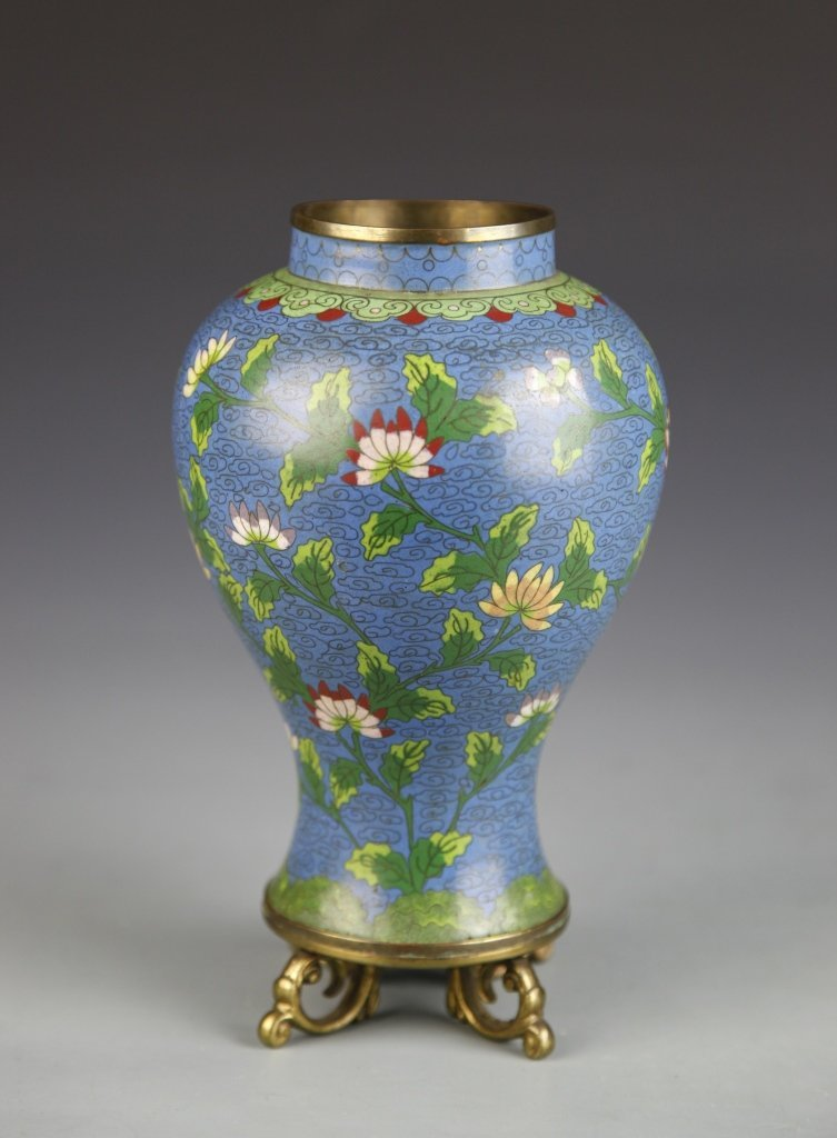 Chinese Pair of Cloisonne Vases - 6