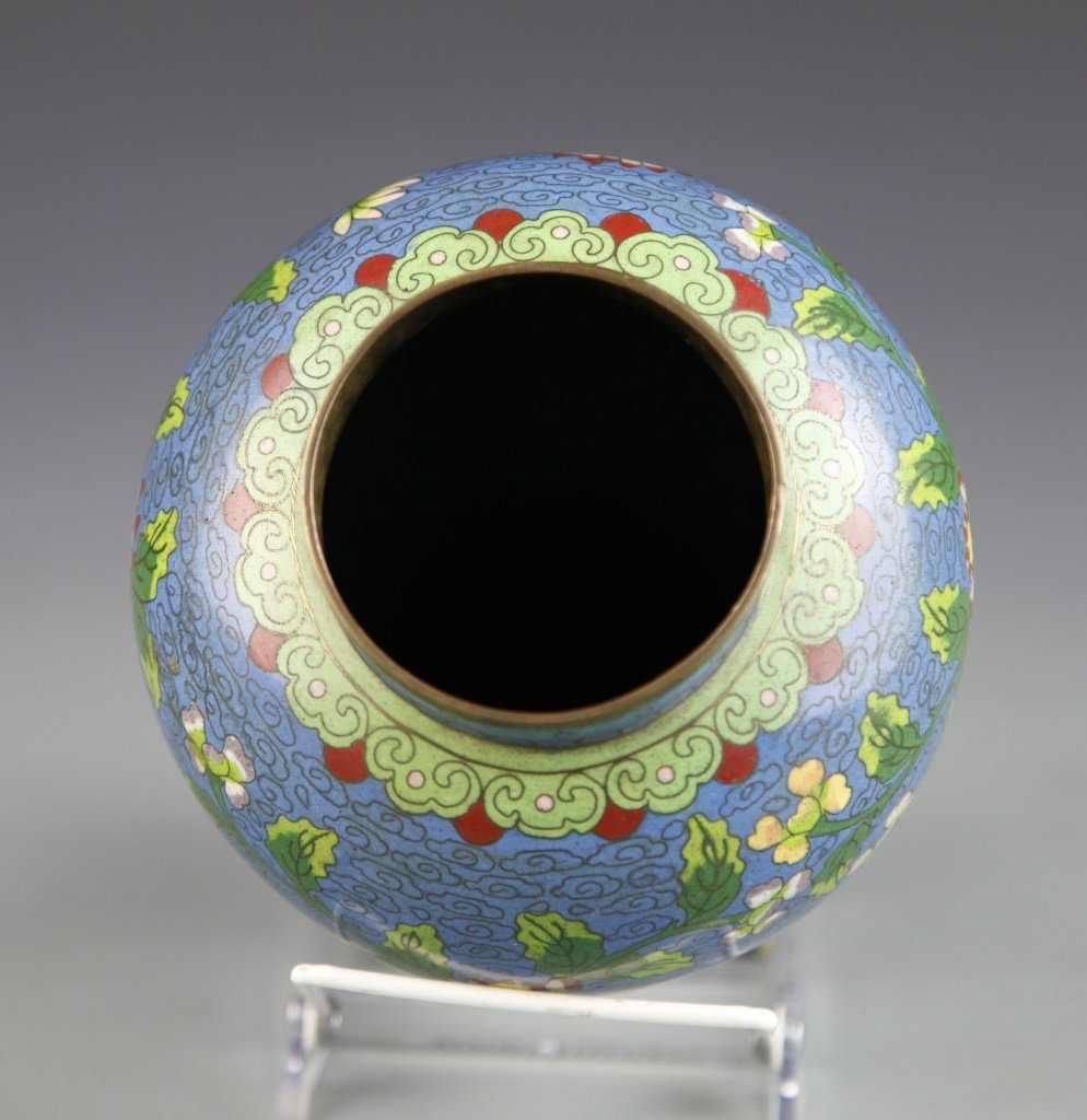 Chinese Pair of Cloisonne Vases - 9