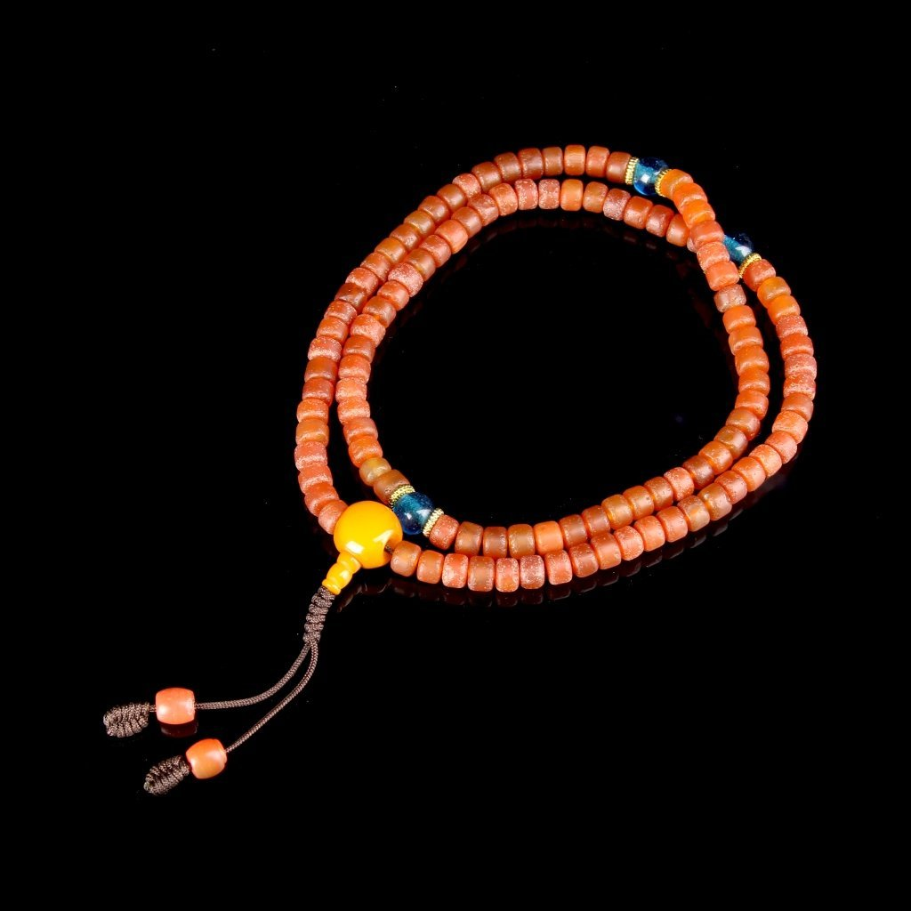 Chinese Tibetan Agate Prayer Beads