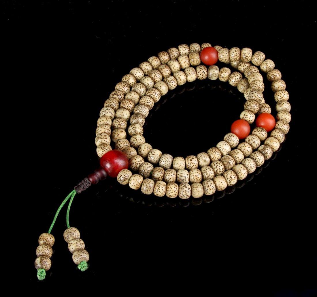 Chinese Tibetan Puti Seed Prayer Beads