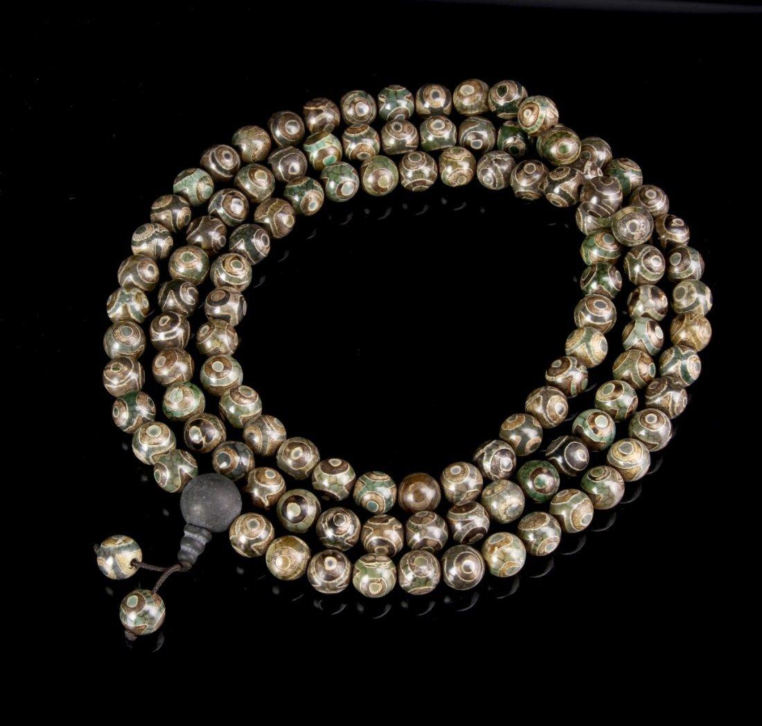 Chinese Agate Prayer Beads
