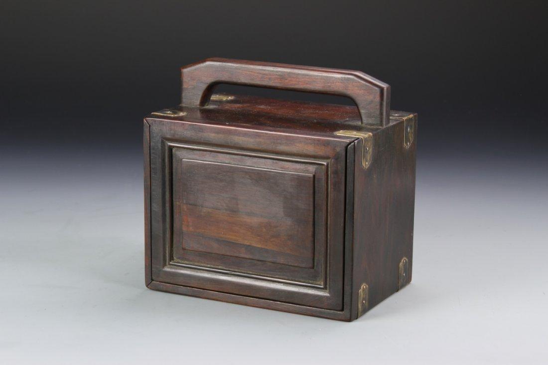 Chinese Rosewood Jewelry Box