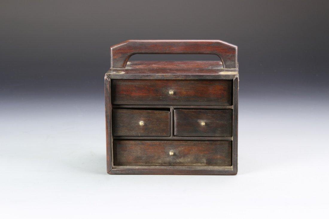 Chinese Rosewood Jewelry Box - 2