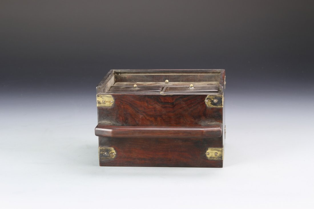 Chinese Rosewood Jewelry Box - 4