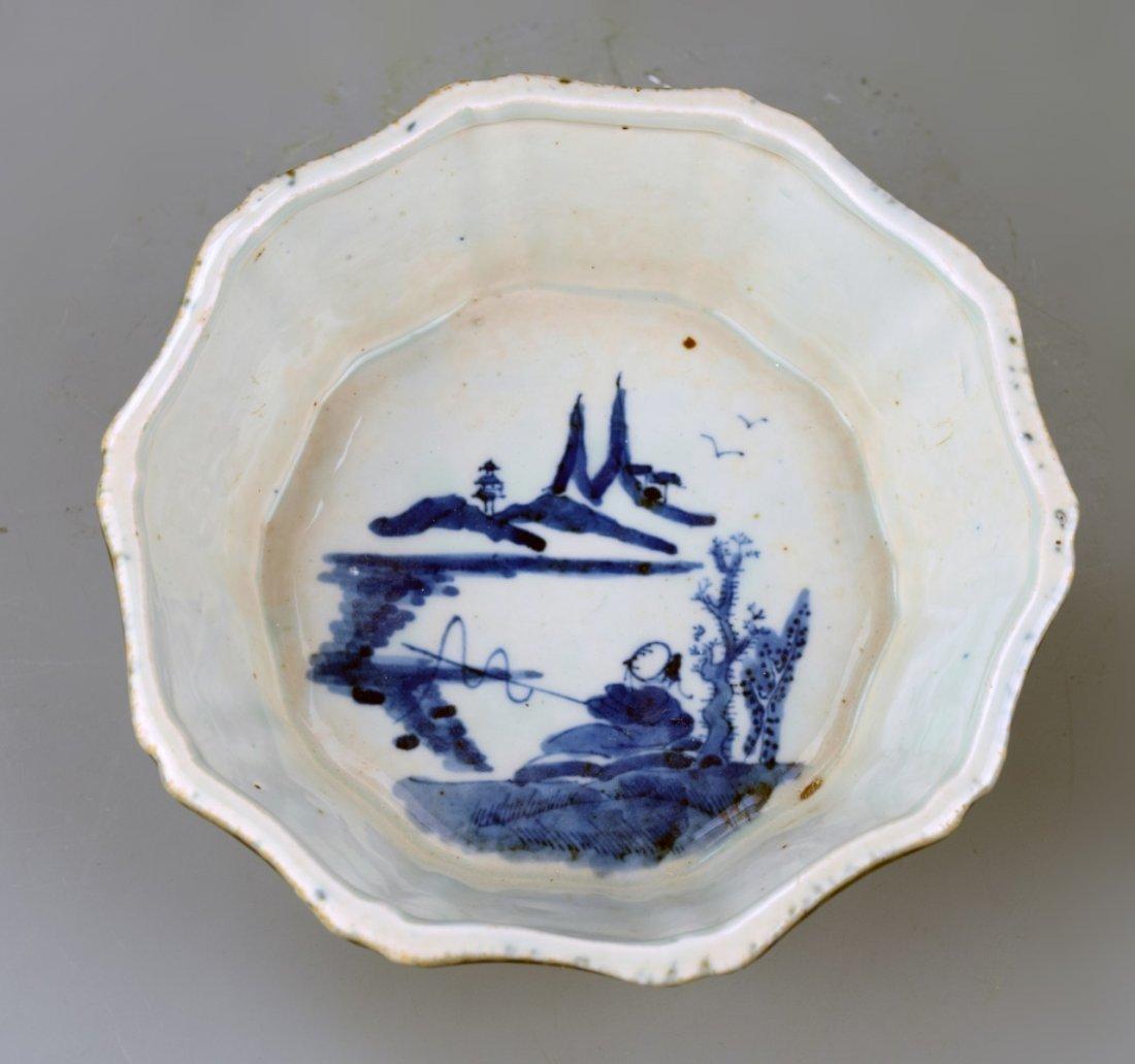 Chinese Blue Brush Washer - 2