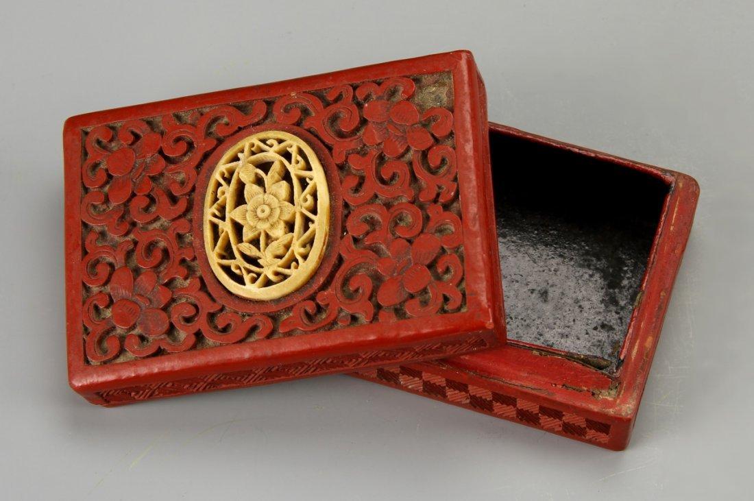 Chinese Cinnabar Box - 2
