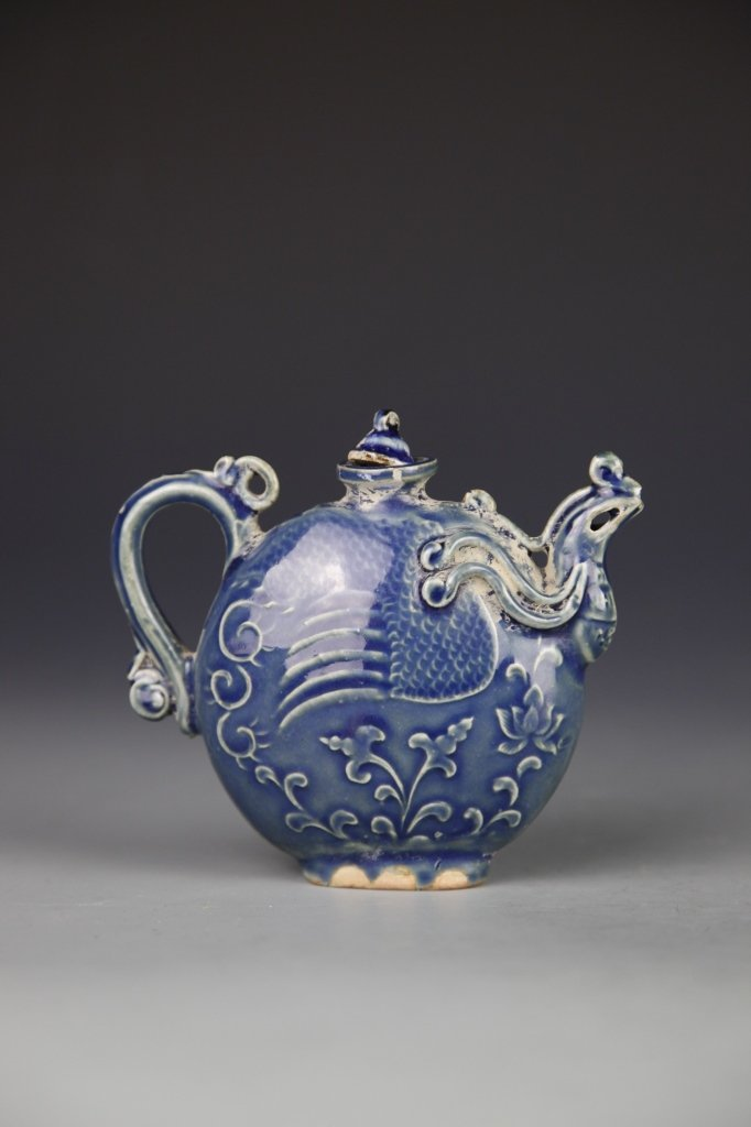 Chinese Blue Wine Teapot