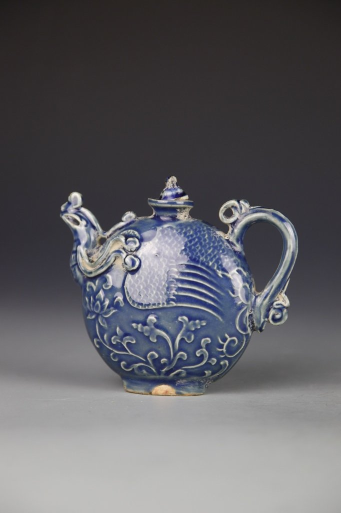 Chinese Blue Wine Teapot - 3