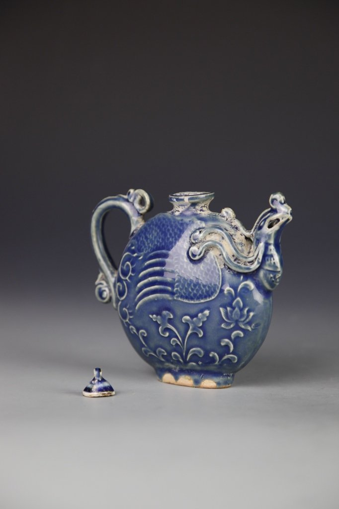 Chinese Blue Wine Teapot - 4