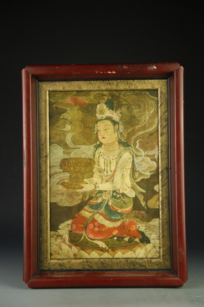 Chinese Framed Buddha Portrait