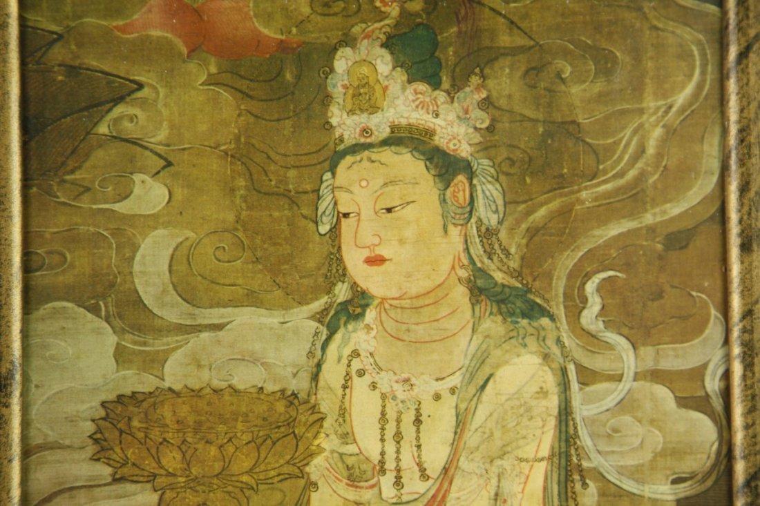 Chinese Framed Buddha Portrait - 2
