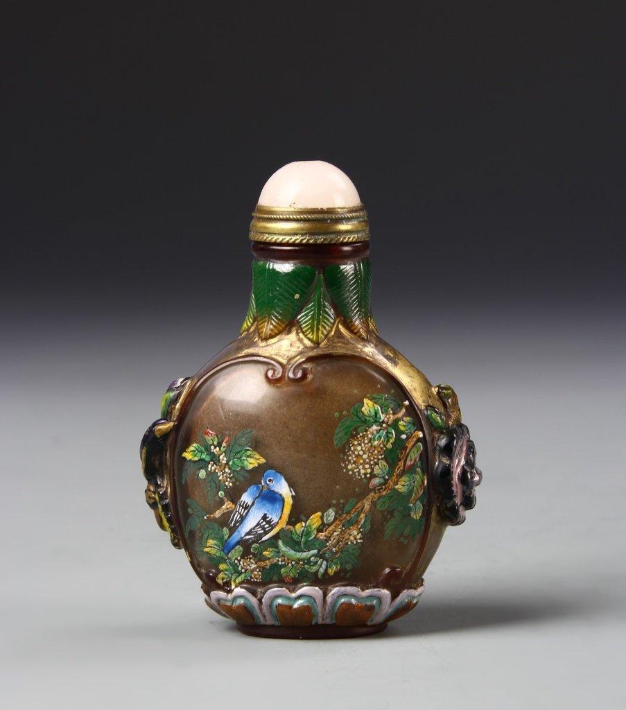 Chinese Peking Glass Snuff Bottle