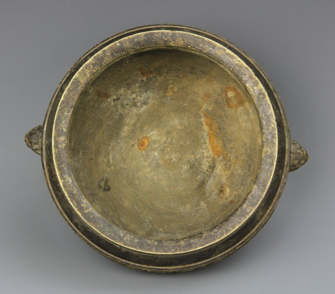 Chinese Tripod Bronze Censer - 3