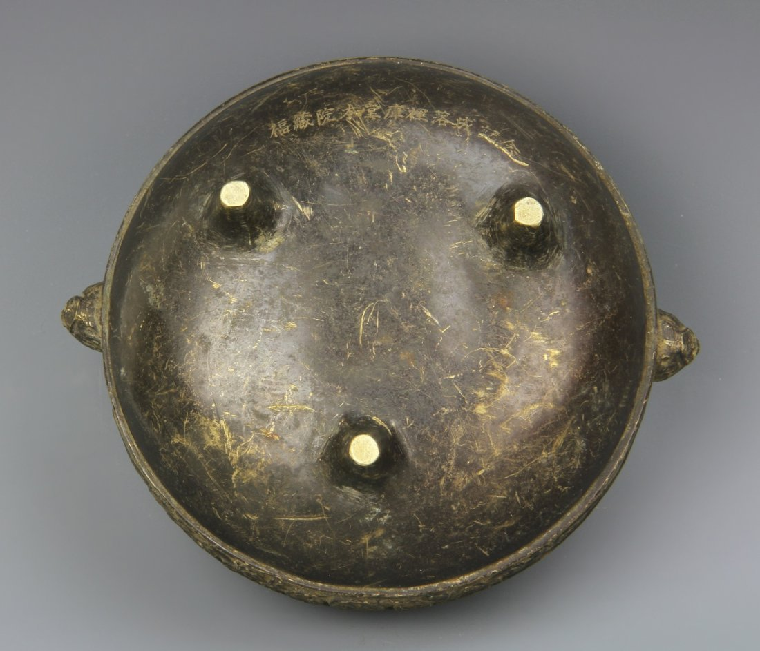 Chinese Tripod Bronze Censer - 4