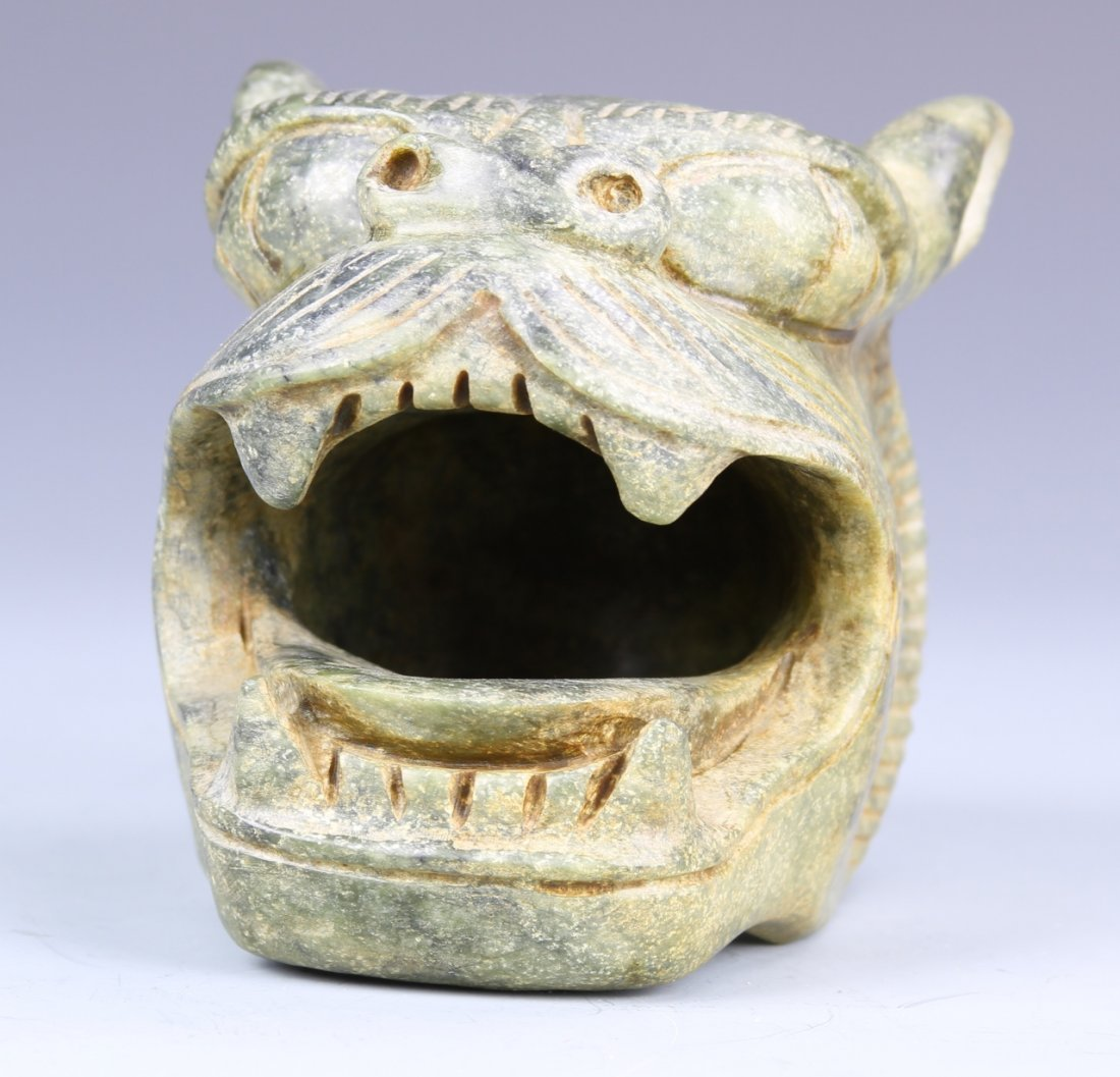 Chinese Jade Tiger Head - 2
