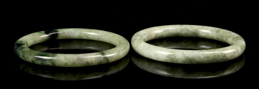 Pair of Chinese Jade Bangles