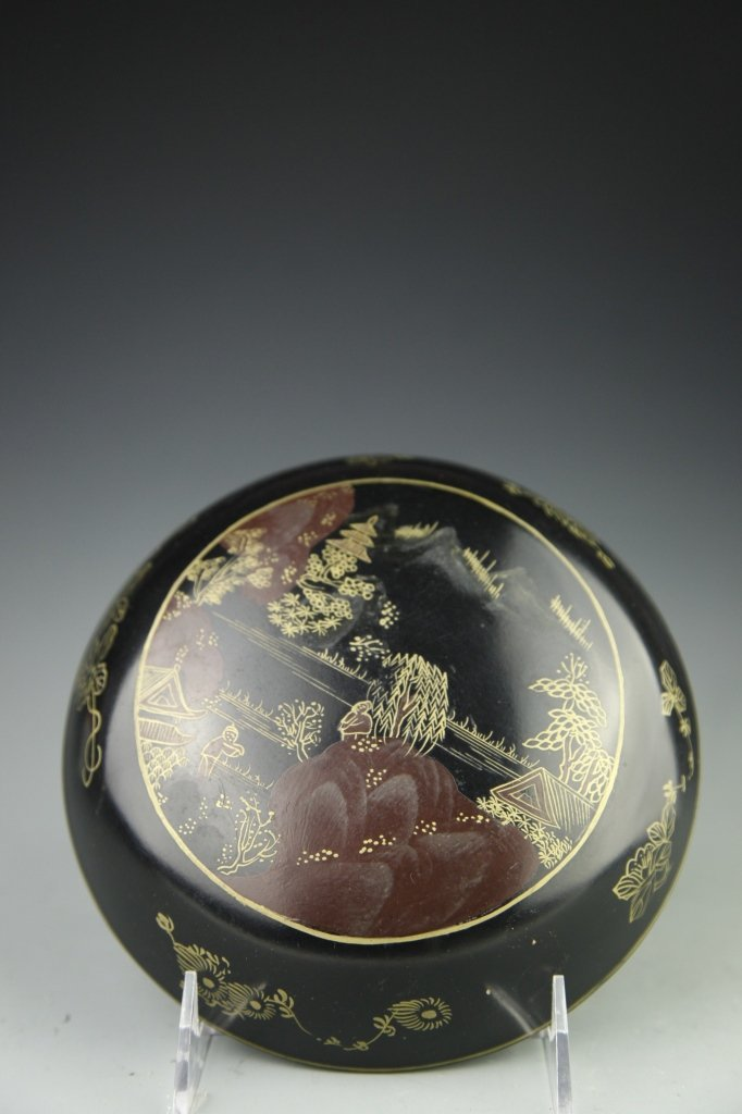 Japanese Lacquer Box with Cover - 5