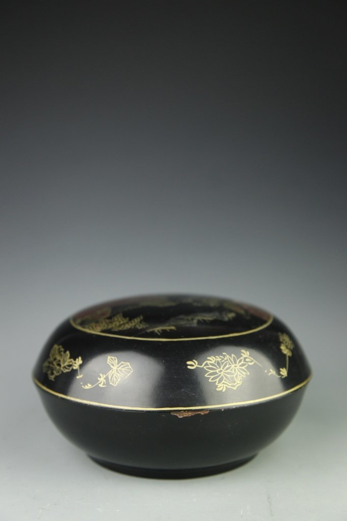 Japanese Lacquer Box with Cover - 7
