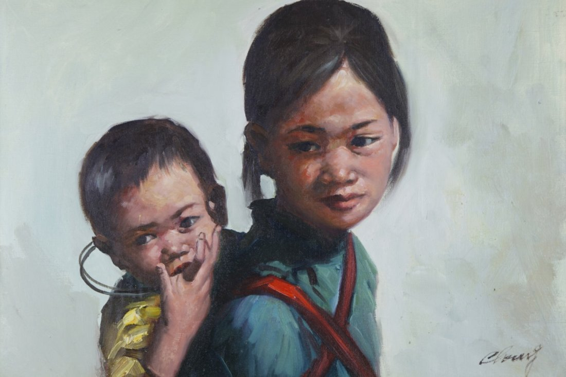 Oil Painting of Mother and Child - 3