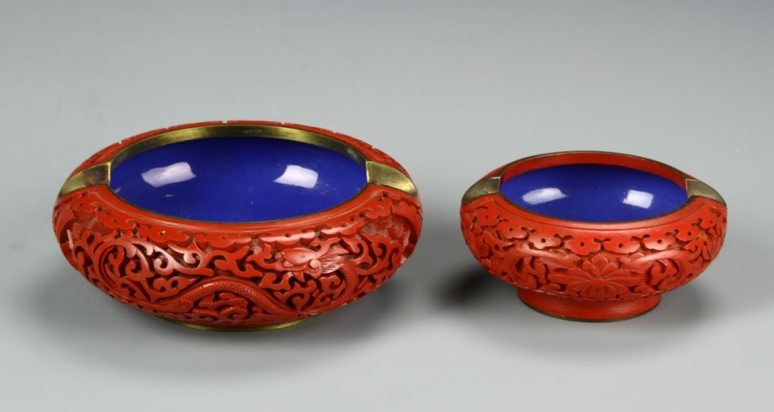 Two Chinese Cinnabar Astries - 2