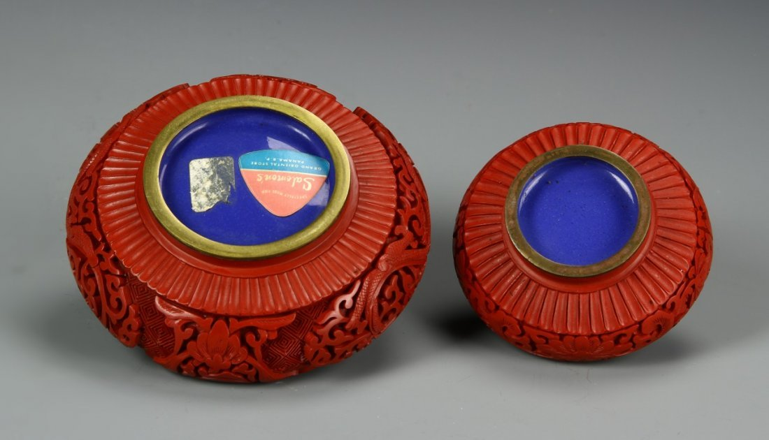Two Chinese Cinnabar Astries - 4