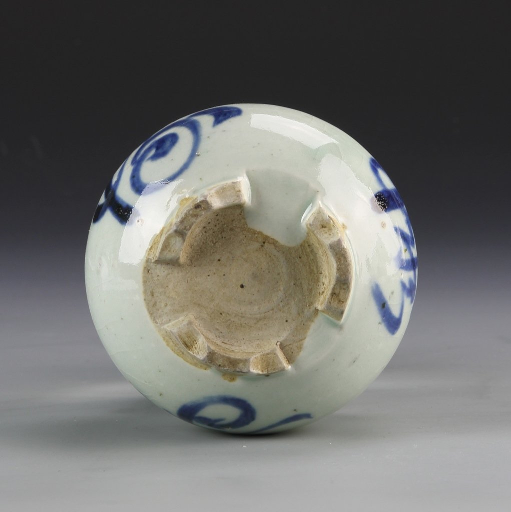 Chinese Blue and White Tripod Censer - 3