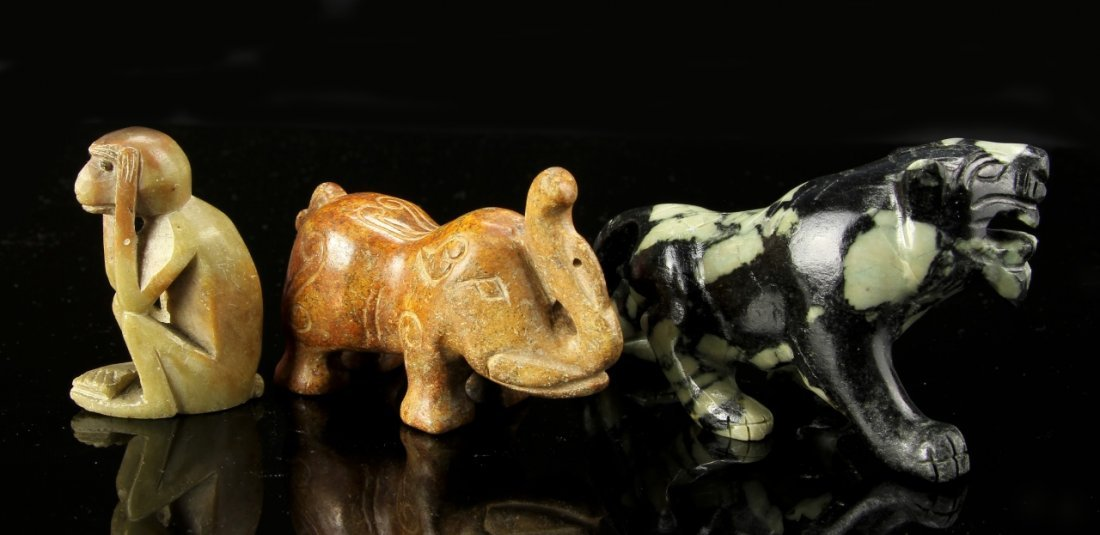 Three Chinese Soap Stone Animals - 2