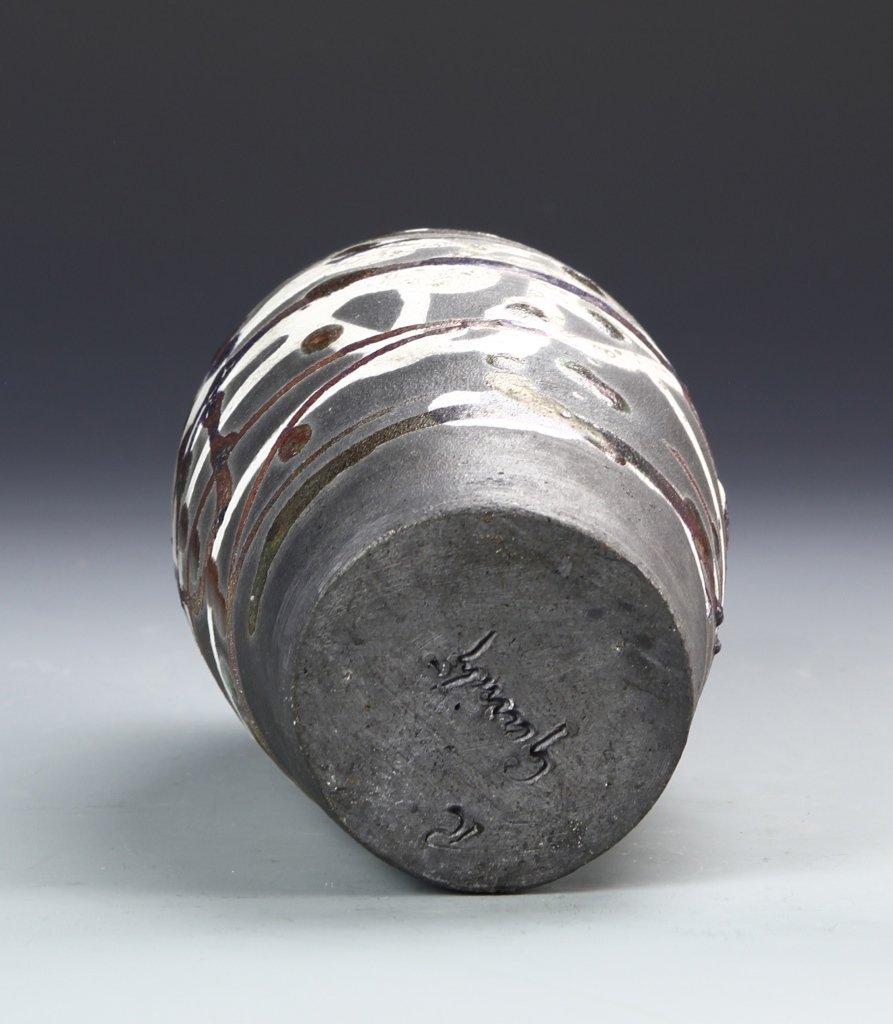 Pottery Vase Signed on Base - 4