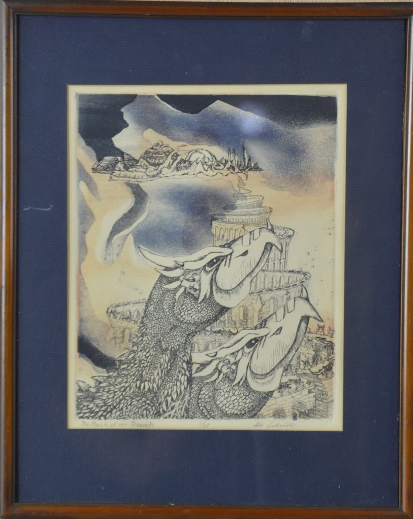 Abstract Lithograph