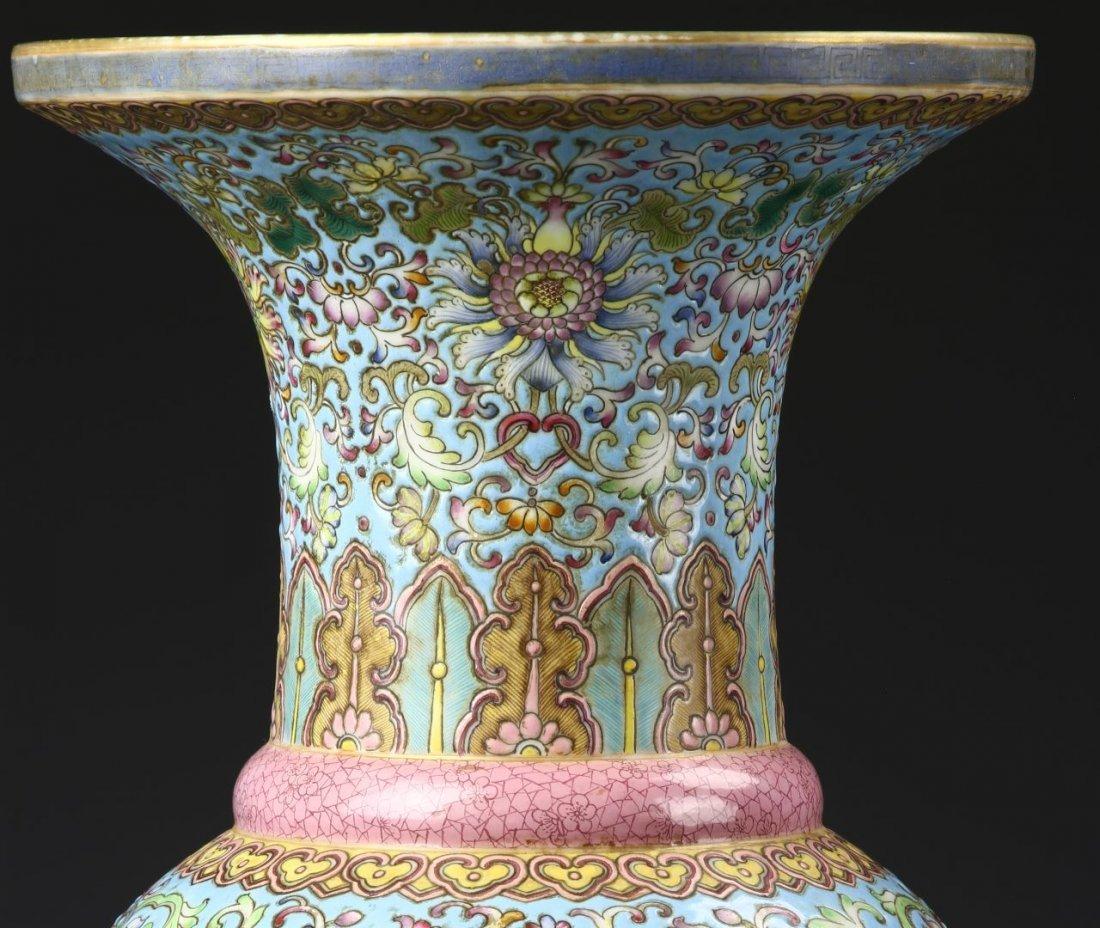 Chinese Famille Rose Gu Vase - 2