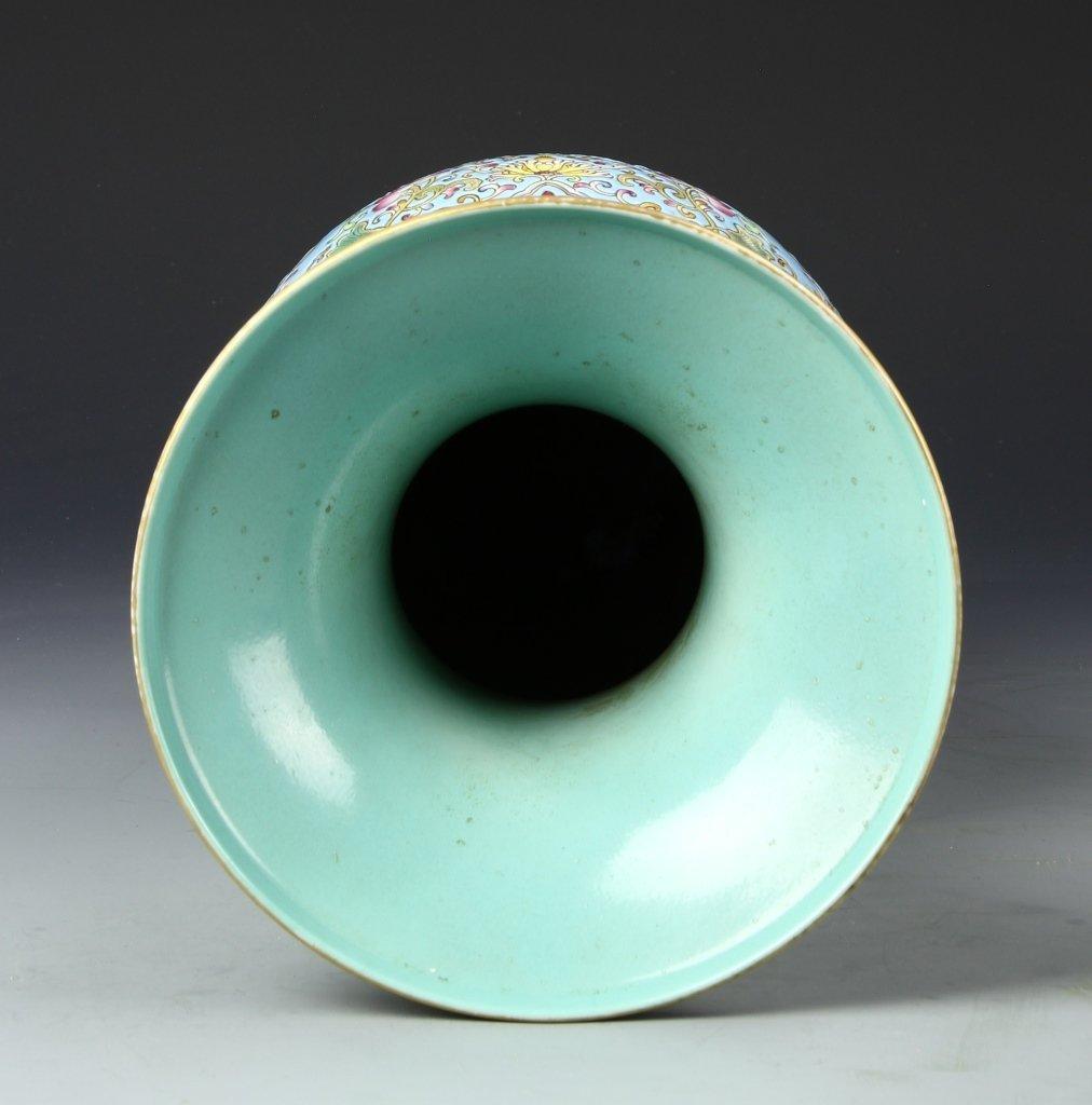Chinese Famille Rose Gu Vase - 4