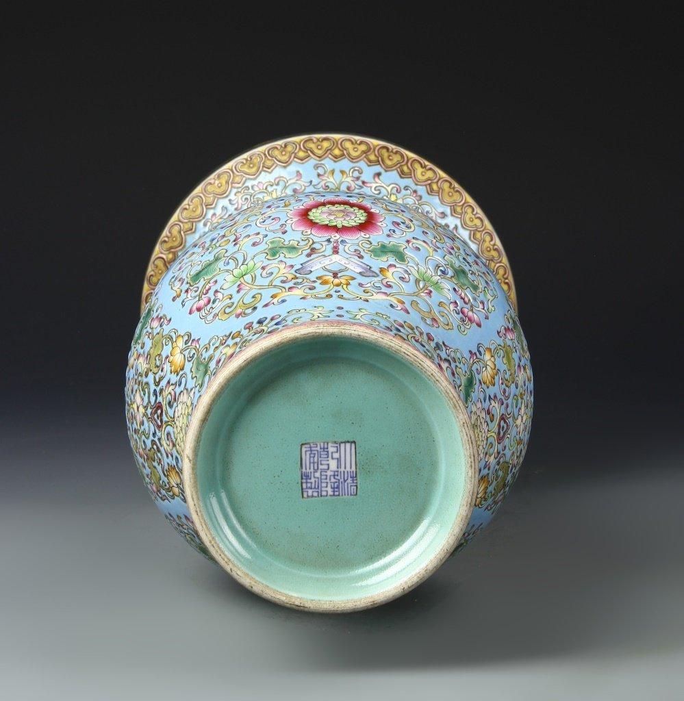 Chinese Famille Rose Gu Vase - 5
