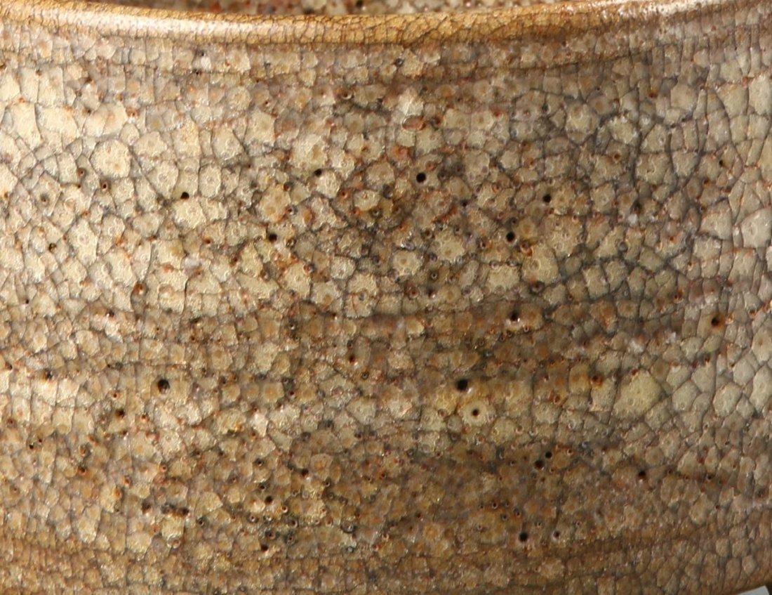Chinese Tripod Brown Glazed Censer - 2