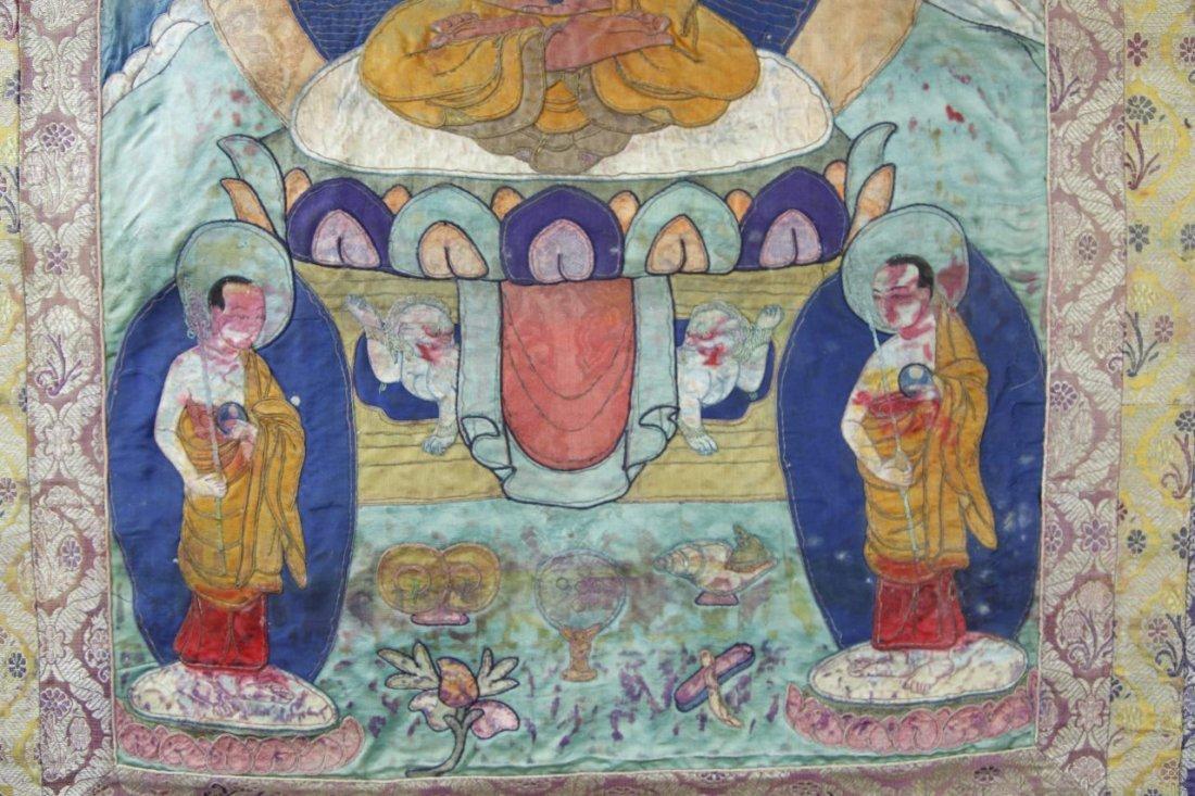 Chinese Tibetan Thangka - 9