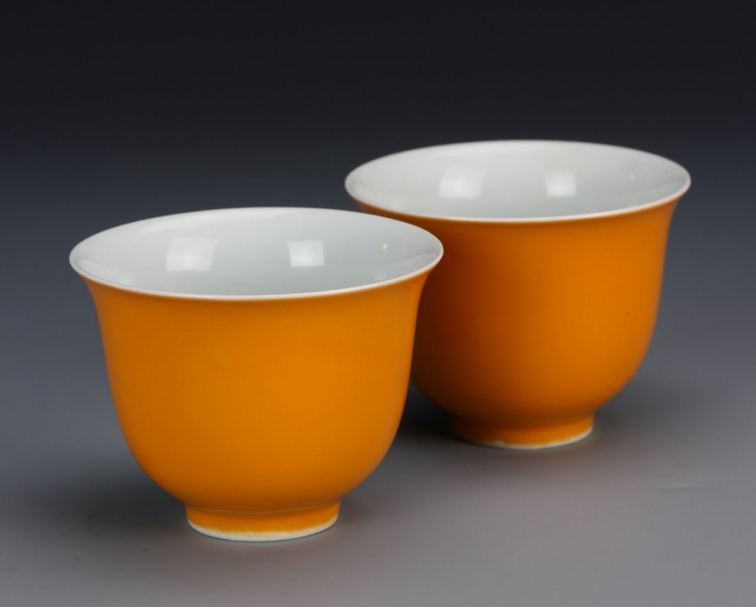 Yellow Glazed Cups