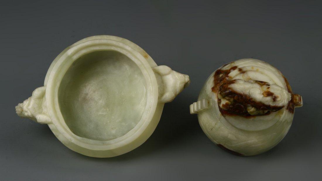 Chinese Jade Censer - 4