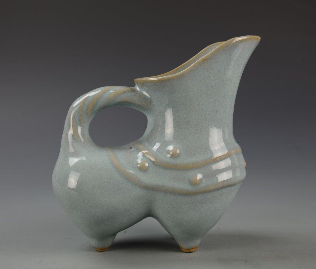 Chinese Lung Quan Yao Ewer