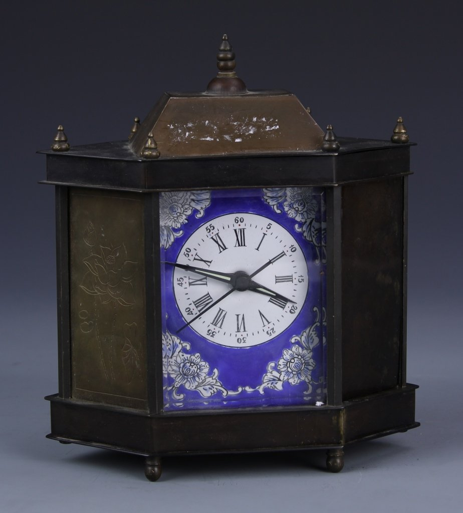 Chinese Metal Desk Clock